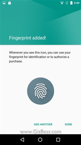 Adding fingerprint