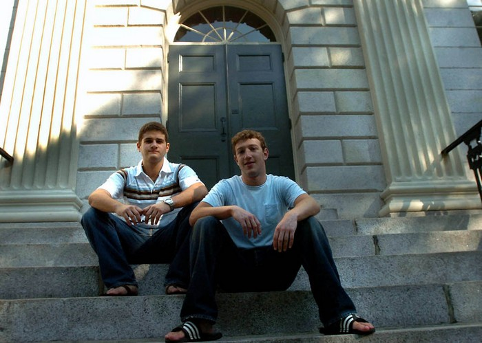 Mark Zuckerberg and Dustin Moscovitz in 2004, after they had just lauched FaceBook. Source: Daily Finance