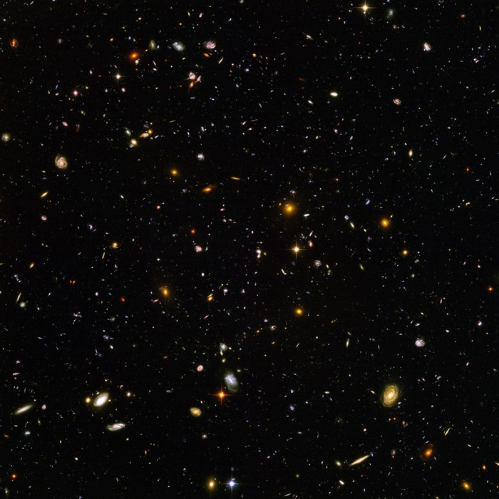 The Hubble Telescope takes a picture of what the universe looked like 13 billion years ago [2004] Source: NASA