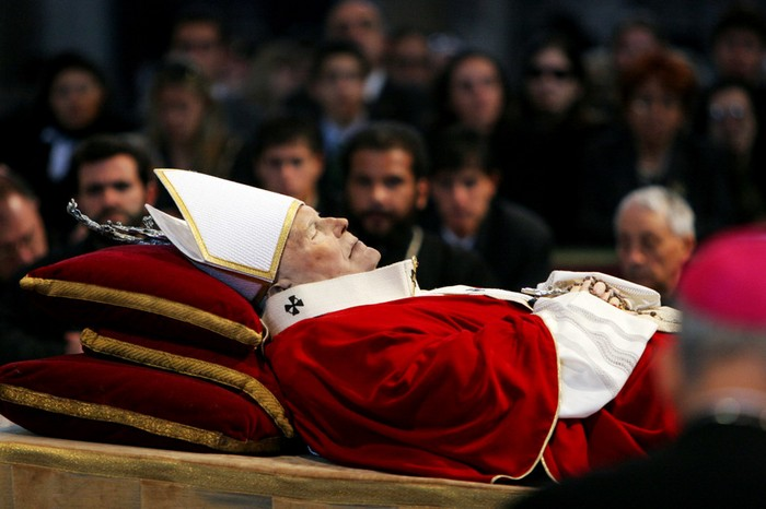 The Christian world mourns the passing of Pope John Paul II [2005] Source: Unknown Photographer