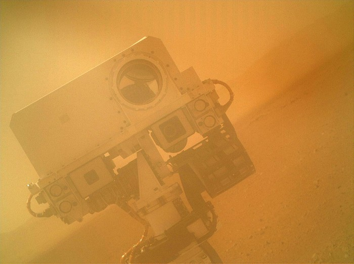 The US rover, Curiosity, takes a selfie on Mars [2012] Source: NASA