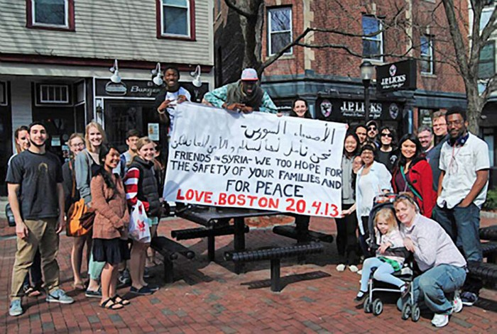 Boston replied with their own message. [2013]
