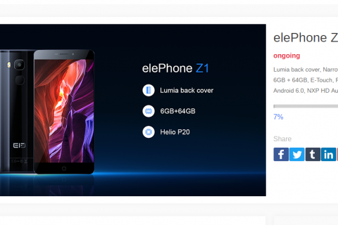 Elephone resorts to crowdfunding for Elephone Z1