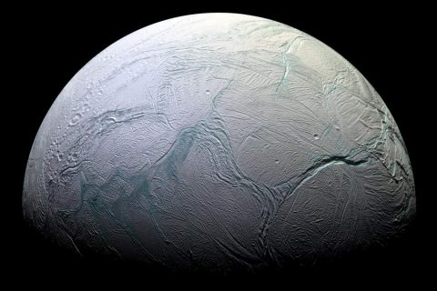 Icy moon Enceladus, which has hydrothermal vents