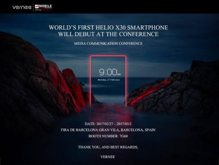 Vernee Apollo 2 will have AMOLED and Helio X30 MT6799