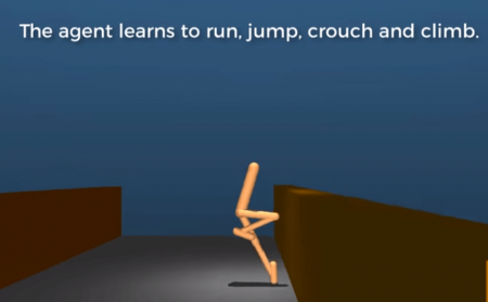 Google DeepMind artificial intelligence learns to jump, run, and crawl